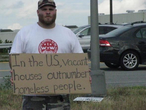 In the US, vacant houses out number the homeless.