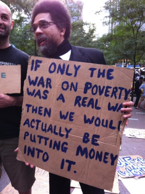 If only the war on poverty was a real war...