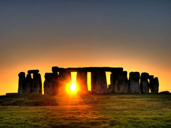 The summer solstice as seen from Stonehenge