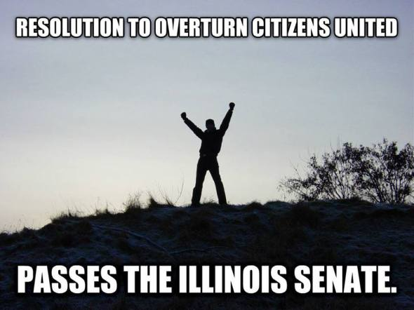 Resolution to overturn Citizens United passes the Illinois Senate