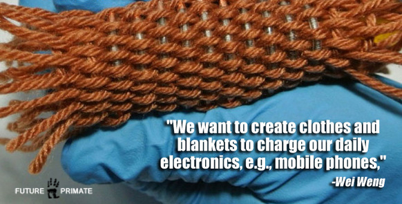 Battery Yarn Could Knit Power Into Fabrics